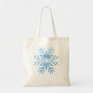 Flocon de neige de vacances d'aquarelle d'hiver tote bag