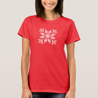 Flocon de neige tricoté t-shirt