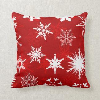 Flocons de neige de fête de Noël Coussin Décoratif