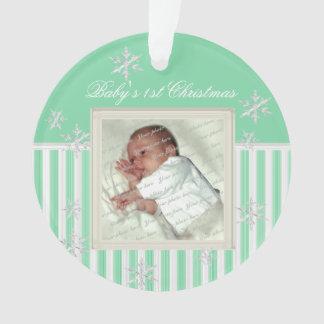 Flocons de neige de Noël du bébé d'ornement de