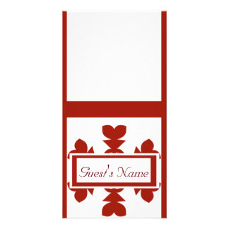 Flocons de neige rouges cartes de vœux avec photo