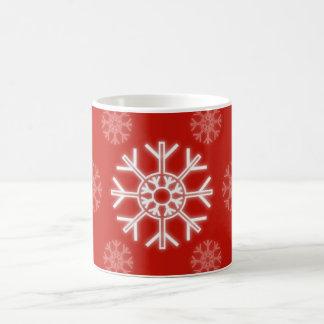 Flocons de neige sans couture mug