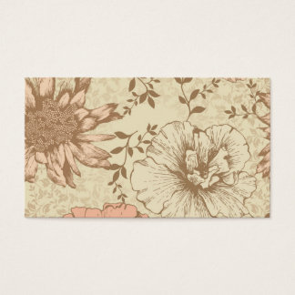 Floral amorti cartes de visite