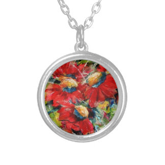 Floral Collage Collier