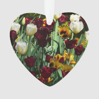 Floral coloré de tulipes marron et jaunes