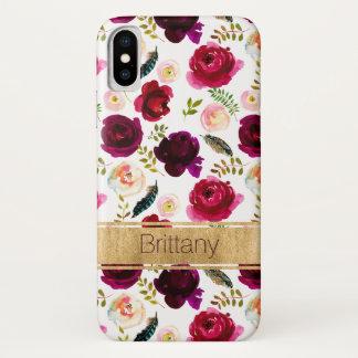 Floral de Bohème, cas de l'iPhone X de Coque iPhone X