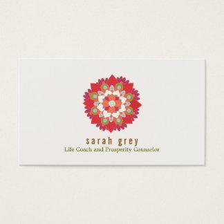 Floral élégant rouge de santé et de santé de fleur cartes de visite