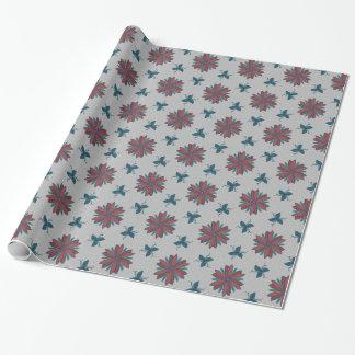 Floral élégant sur des confettis papier cadeau