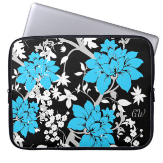 Floral moderne personnalisé protection pour ordinateur portable
