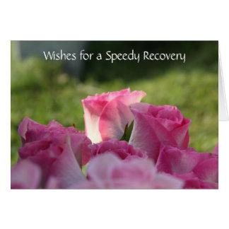 Floral obtenez la carte bonne, roses assez roses