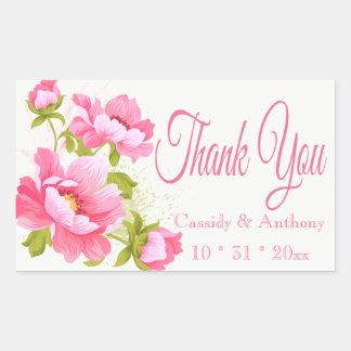 Floral Sticker Rectangulaire