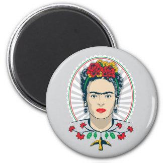 Floral vintage de Frida Kahlo | Aimant