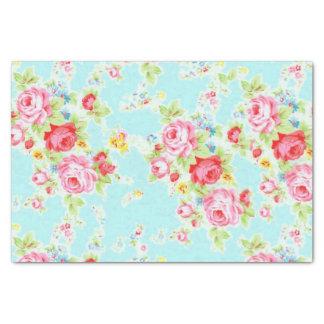 Floral vintage élégant s'est levé papier mousseline
