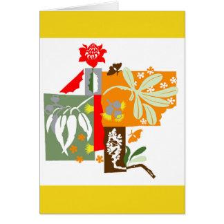 Flore de Bushland - carte de voeux