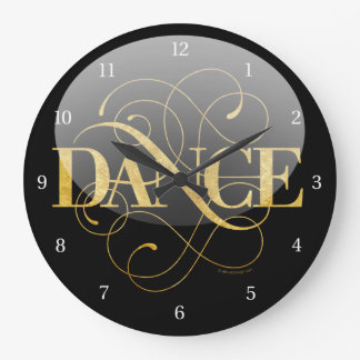 Flourish de danse grande horloge ronde