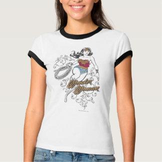 Flourish de femme de merveille t-shirt