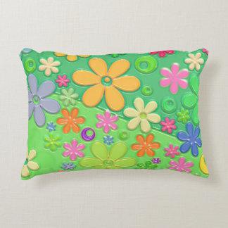 Flower power in Groen Decoratief Kussen