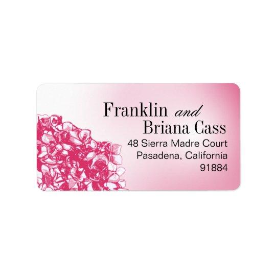 Flowerball baroque - fuschia étiquettes d'adresse
