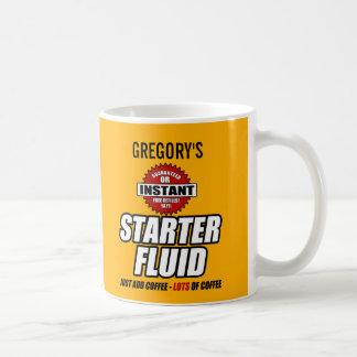 Fluide personnalisé drôle de démarreur mug blanc