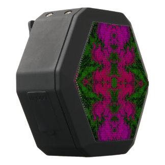 Fluorescente Groene Roze Samenvatting Zwarte Bluetooth Speaker