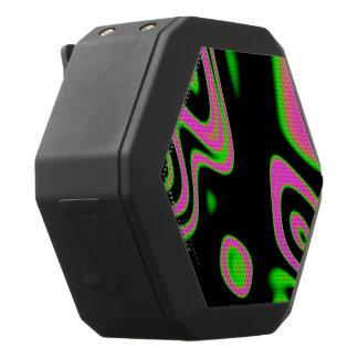 Fluorescente Roze Groene Samenvatting Zwarte Bluetooth Speaker