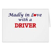 Follement dans l'amour avec un conducteur carte de vœux