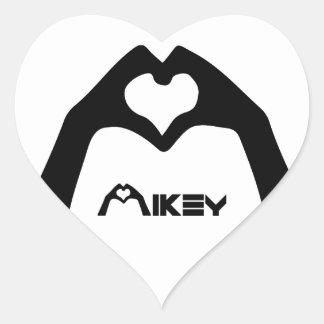 Fond TRANSPARENT d'autocollant de Mikey Shanley Sticker Cœur