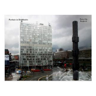 Fontain à Stockholm, Ola B de photo… Carte Postale