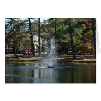 Fontaine dans la carte de voeux de parc