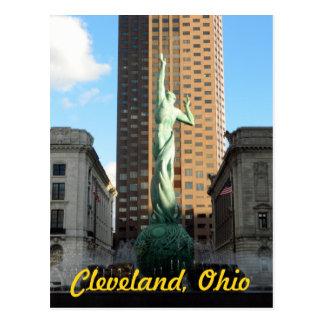 Fontaine de Cleveland, OH en carte postale de