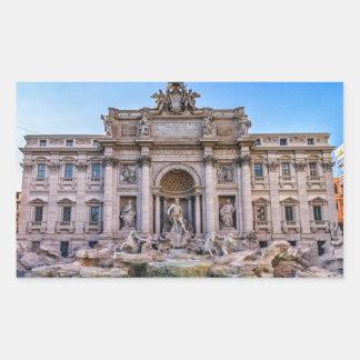 Fontaine de TREVI, Roma, Italie Sticker Rectangulaire