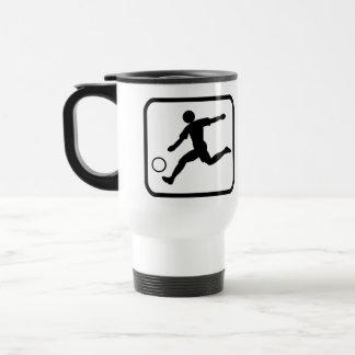 Footballer pro mug de voyage en acier inoxydable