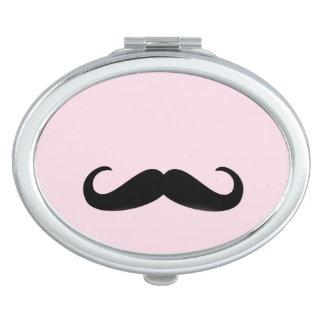 For Girls   Moustache   miroir de sac ovale