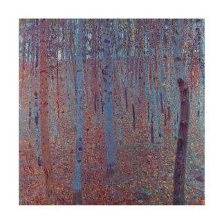Forêt de hêtre par Gustav Klimt, art vintage