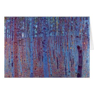 Forêt de hêtre par Gustav Klimt, art vintage Carte