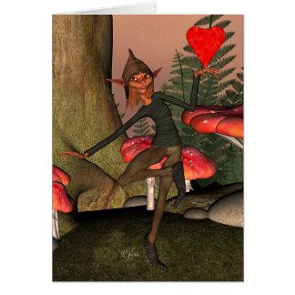 Forêt Elf - carte de voeux de Valentine