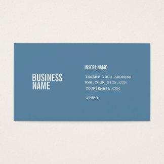 Format bleu avec les polices condensées par blanc cartes de visite