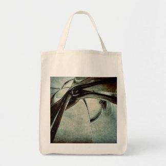 Forme bleue abstraite sac en toile épicerie