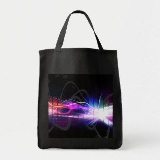 Forme de vague musicale d'arc-en-ciel sac en toile épicerie