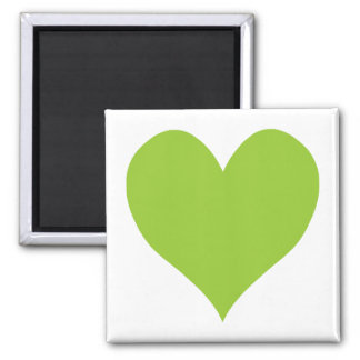 Forme mignonne vert pomme de coeur magnets