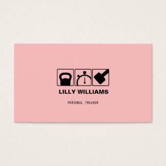 Forme physique personnelle femelle de rose carte de visite standard