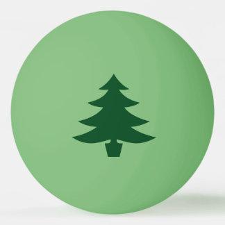 Forme verte d'arbre de Noël sur le vert Balle Tennis De Table