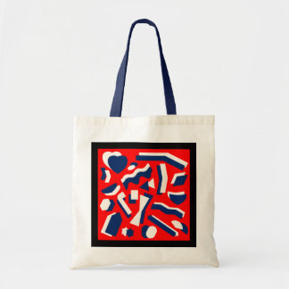 Formes abstraites sac en toile budget