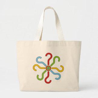 formes colorées sac en toile jumbo