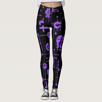 Formes pourpres leggings