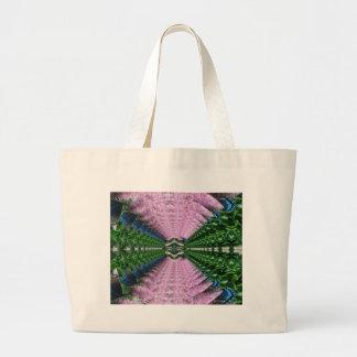 Formes vertes roses abstraites de sablier de grand sac