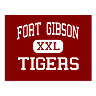 Fort Gibson - tigres - milieu - fort Gibson Carte Postale