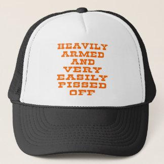 Fortement armé et très facilement pissé casquette