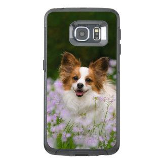Foto van de Hond van Papillon de Leuke Romantische OtterBox Samsung Galaxy S6 Edge Hoesje