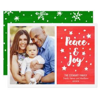 Foto van Kerstmis van de Waterverf van de vrede en 12,7x17,8 Uitnodiging Kaart